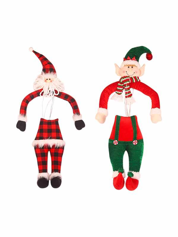 Santa Elf Hanging Doll Ornaments For Christmas Tree