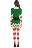 Fancy Adult Christmas Santa Bodysuit Costume Green