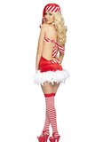 Sexy Strapless Backless Mini Santa Costume Dress Red
