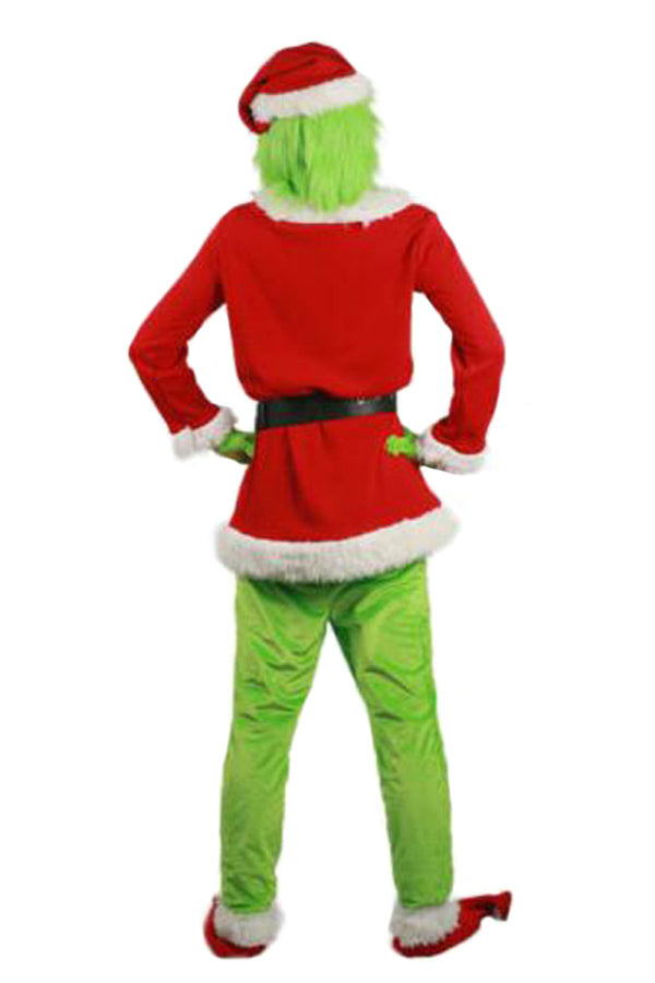 Adult Deluxe Grinch Santa Costume