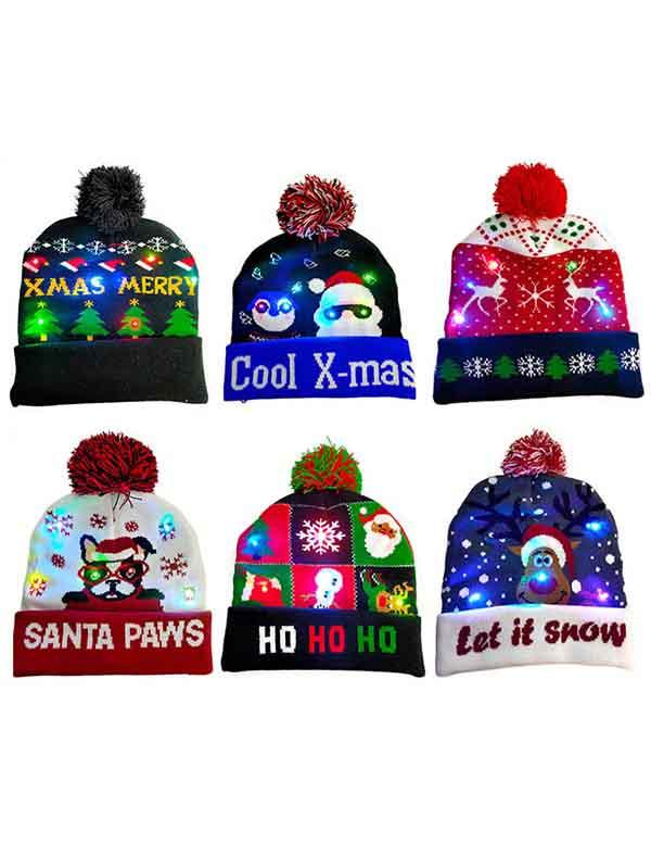 Christmas Light Up Beanie Hat