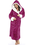 Plus Size Robe for Women Warm Hooded Pajamas Loungewear
