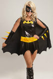 Black Chic Batman Halloween Superhero Costume for Womens