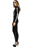 Halloween Skeleton Costume For Womens Black And White