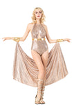Sexy Egyptian Goddess Cleopatra Queen Of The Nile Costume Pink