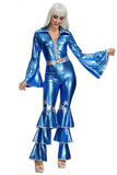Womens Disco Queen Jumpsuit Costume
