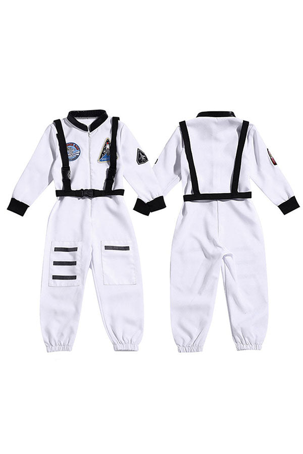 Adjustable Straps Halloween Astronaut Kids Costume White