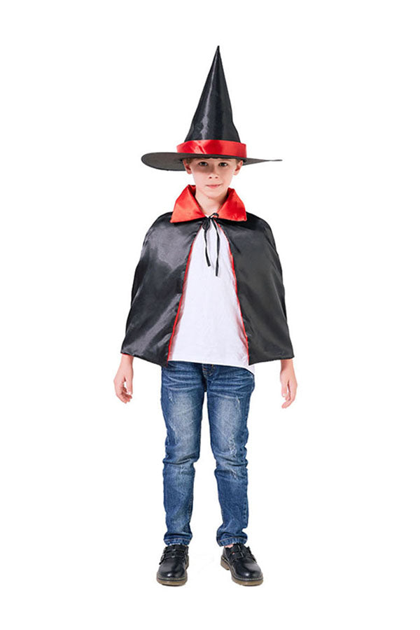 Personalized Cool Short Magic Cloak Halloween Kids Costume Red