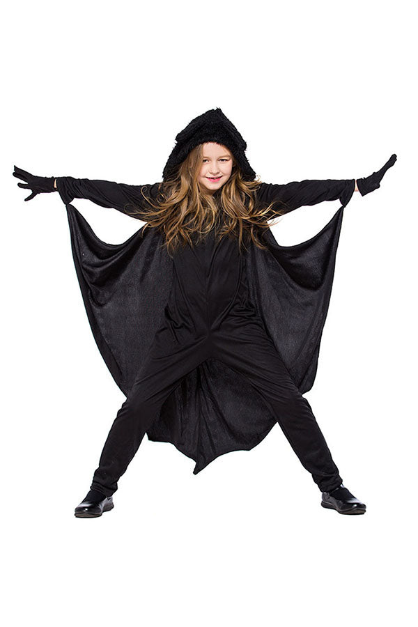 Halloween Cosplay Cool Bat Kids Costume For Girl Black