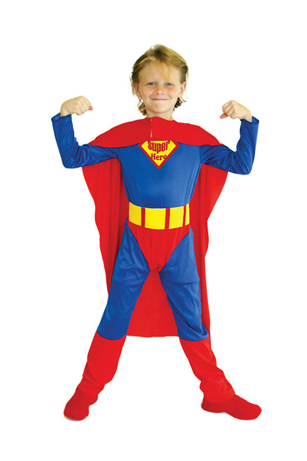 Halloween Cosplay Superhero Superman Kids Costume For Boys Red