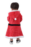 Cute Infant Kids Boys Hooded Jumpsuit Christmas Santa Claus Costume Red
