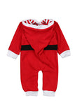 Long Sleeve Hooded Kids Infant Christmas Santa Claus Pajamas Jumpsuit