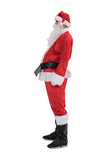 Best Fur Christmas Mens Santa Claus Costume Red