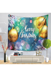 Home Decor Happy New Year Merry Christmas Wall Tapestry Turquoise