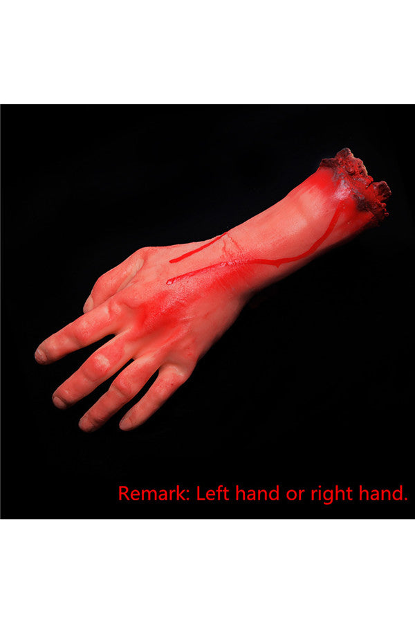 Practical Joke Artificial Bloody Cut Hand For Halloween Decor Red