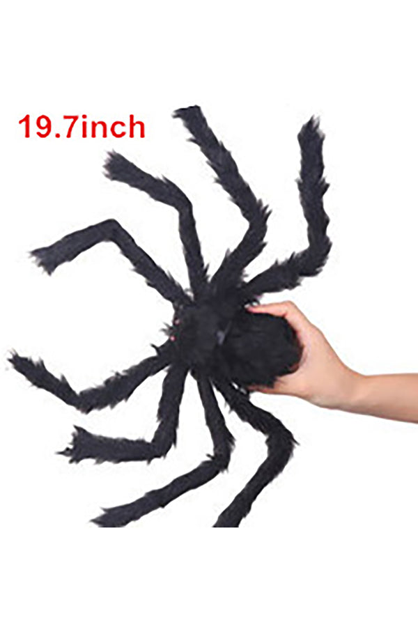 Scary Plush Fake Spider For Halloween Party Decoration Black
