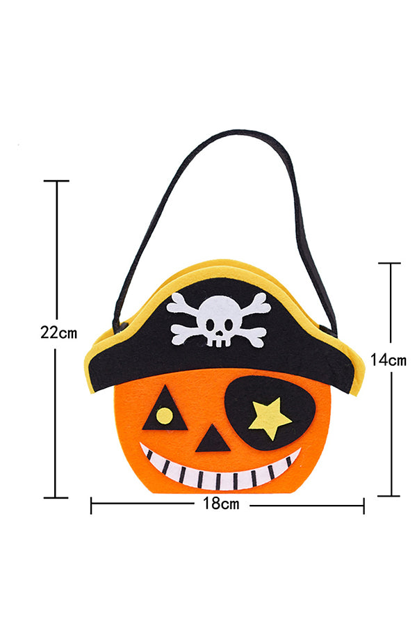 Cute Trick Or Treat Pumpkin Candy Tote Bag For Halloween Decor Black
