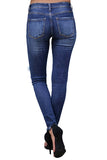 Women's High Waisted Destroyed Ripped Skinny Pants Jeans