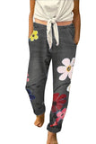 Plus Size Women's High Waisted Floral Print Boyfriend Jeans With Pocket