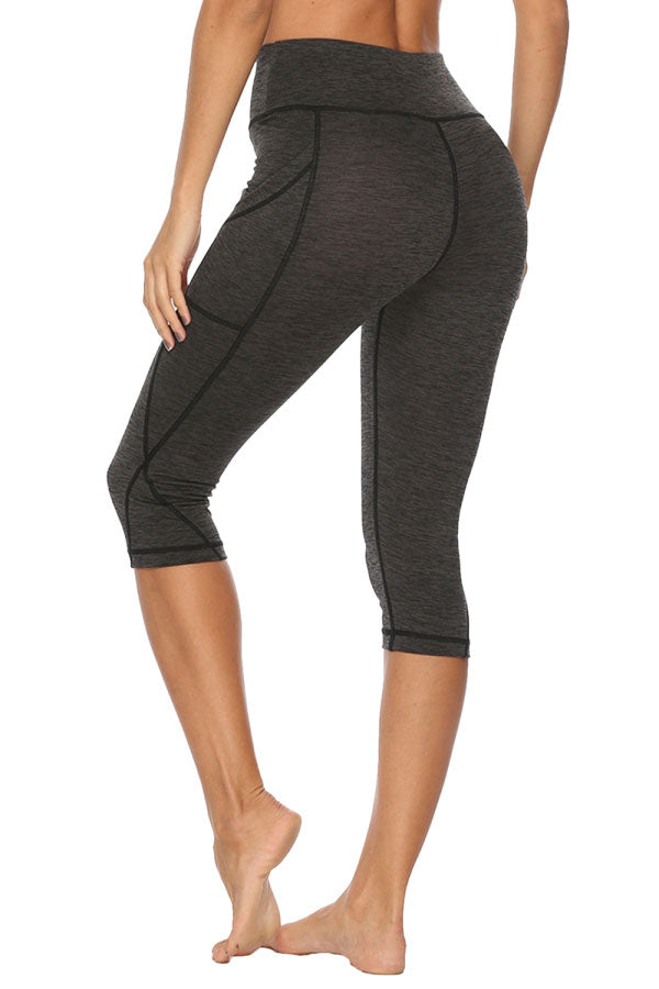 Women's Solid High Waisted Workout Leggings Gray