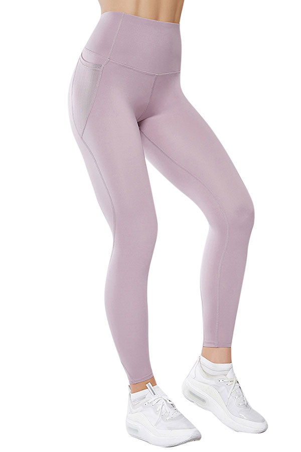 Mesh Pocket High Waisted Workout Leggings For Women