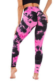 High Waisted Workout Tie Dye Butt Lifting Leggings