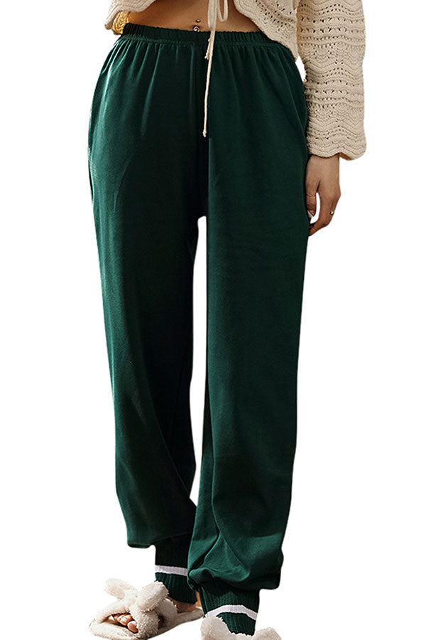 Women's Elastic Waist Jogger Sweatpants With Pocket Green