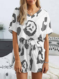 Womens Loungewear Set Short Tie Dye Pajama Set