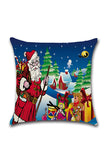 Santa Claus Trees Gifts Print Merry Christmas Throw Pillow Cover