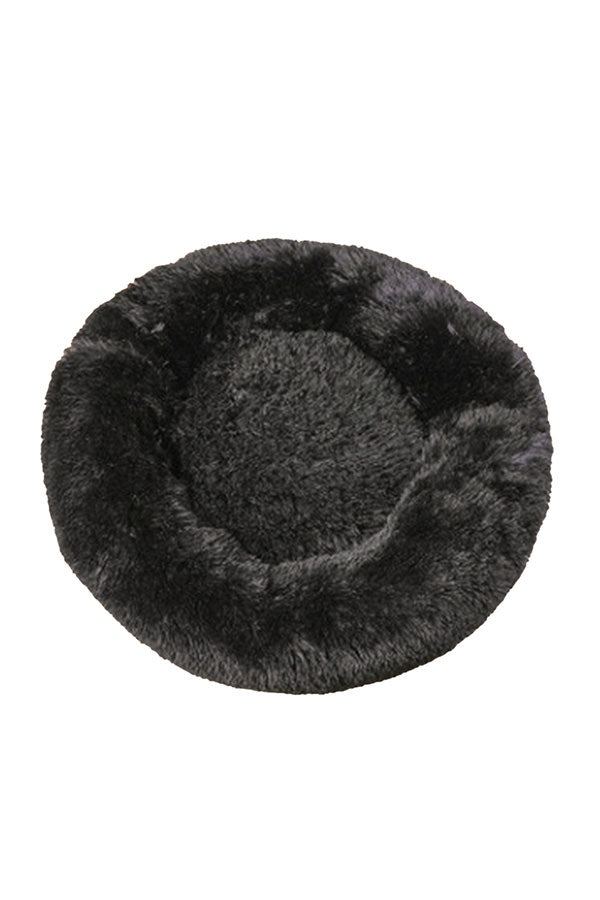 50CM Calming Donut Pet Bed For Dog And Cat Black