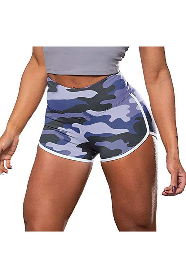 Camouflage Print-Blue