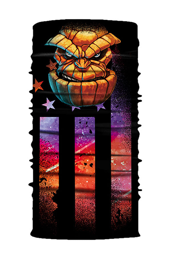 Evil Pumpkin Monster Print Motorcycle Neck Gaiter