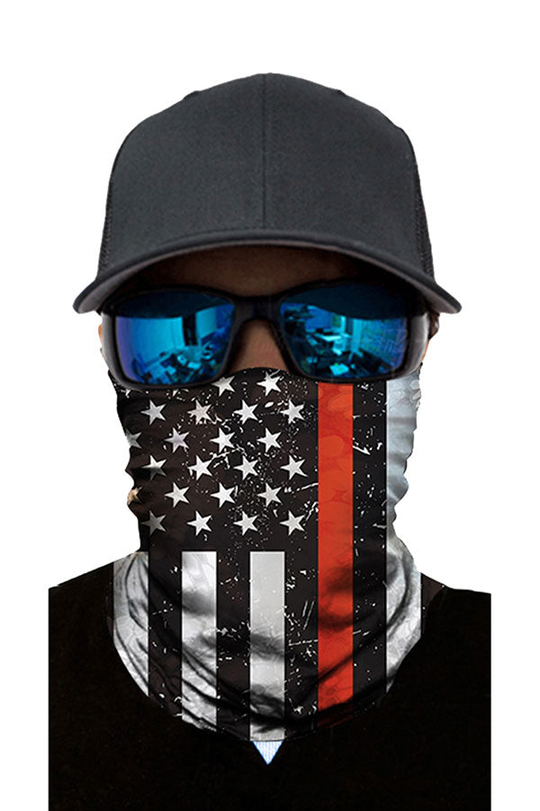 Unisex Flag Print Sports Face Shield Magic Scarf For Sun Protection