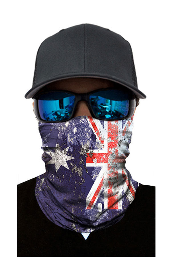 Seamless National Flag Print Motorcycle Windproof Neck Gaiter