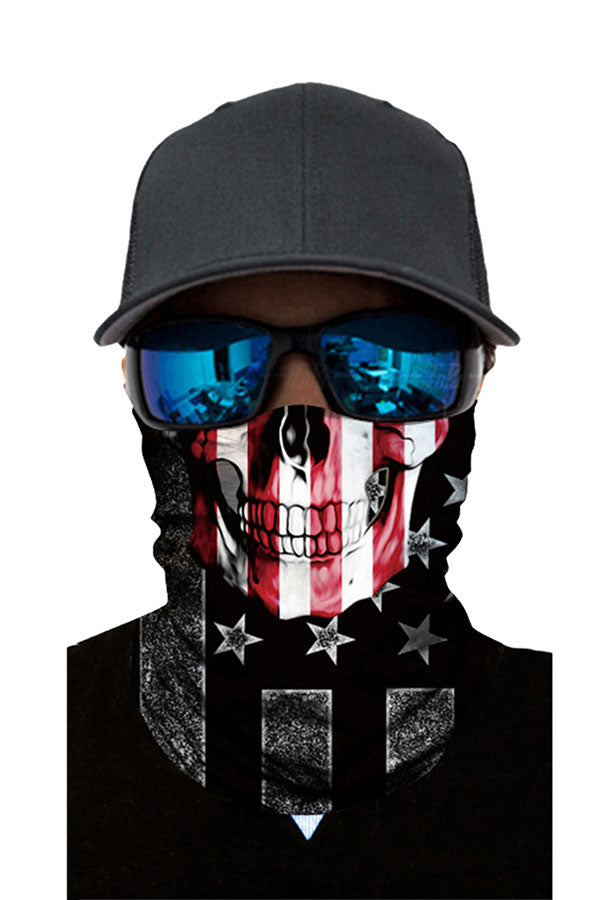 Flag Print Outdoor Sports Skull Bandanas Cycling Neck Gaiter