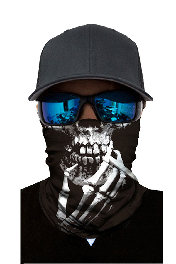 Windproof Funny Print Headwear Motorcycle Neck Gaiter