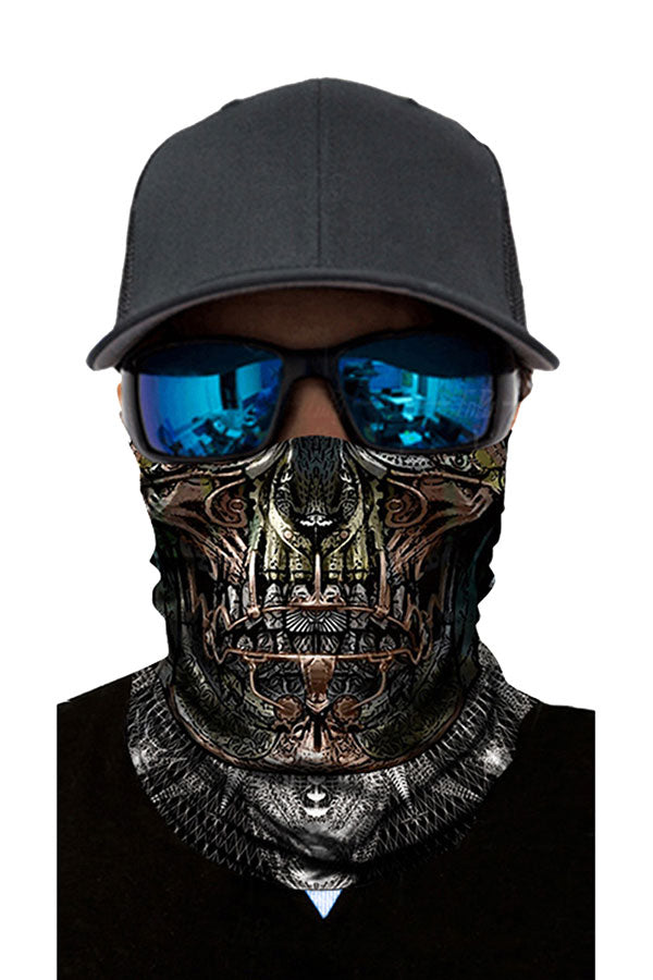 Unisex Windproof Skull Print Bandanas Fishing Neck Gaiter