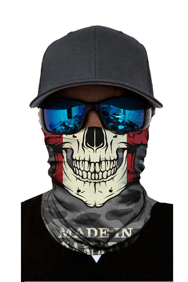 Multifunctional Magic Scarf Skull Print Windproof Neck Gaiter