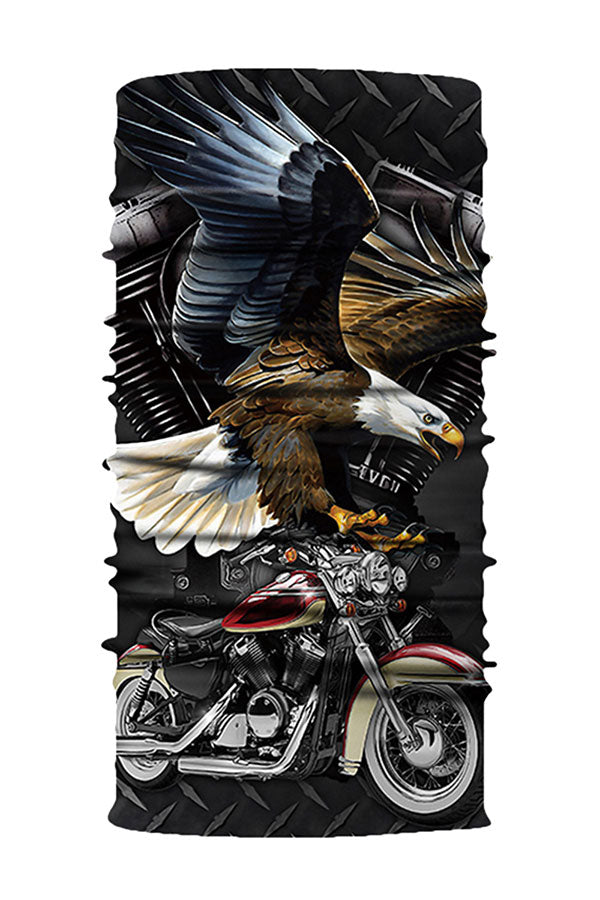 Unisex Eagle Print Motorcycle Neck Gaiter For Sun Protection