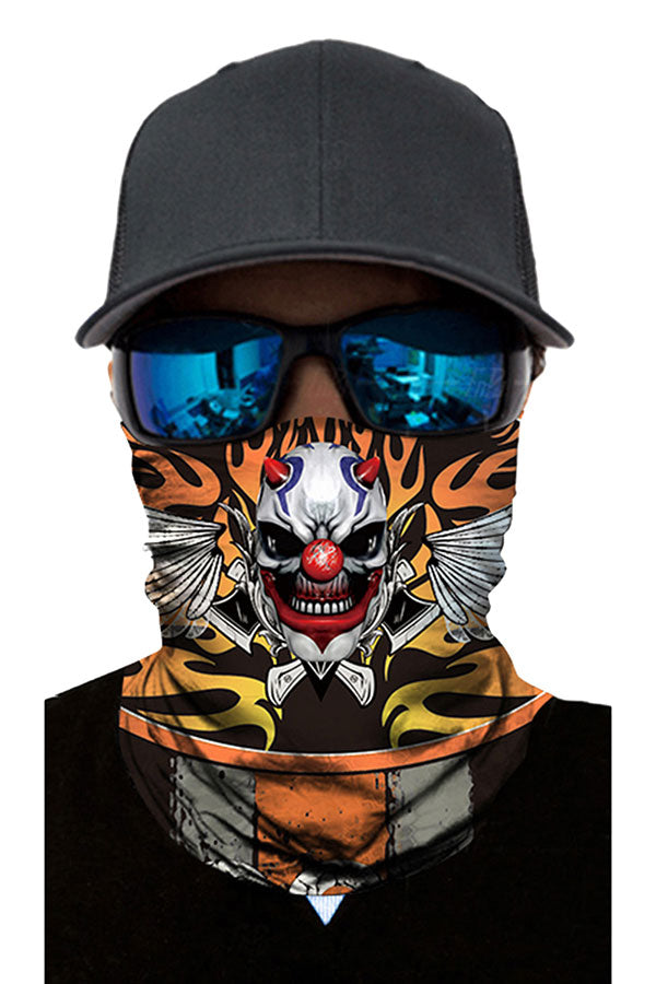 Evil Clown Print Neck Gaiter For Outdoor Sport