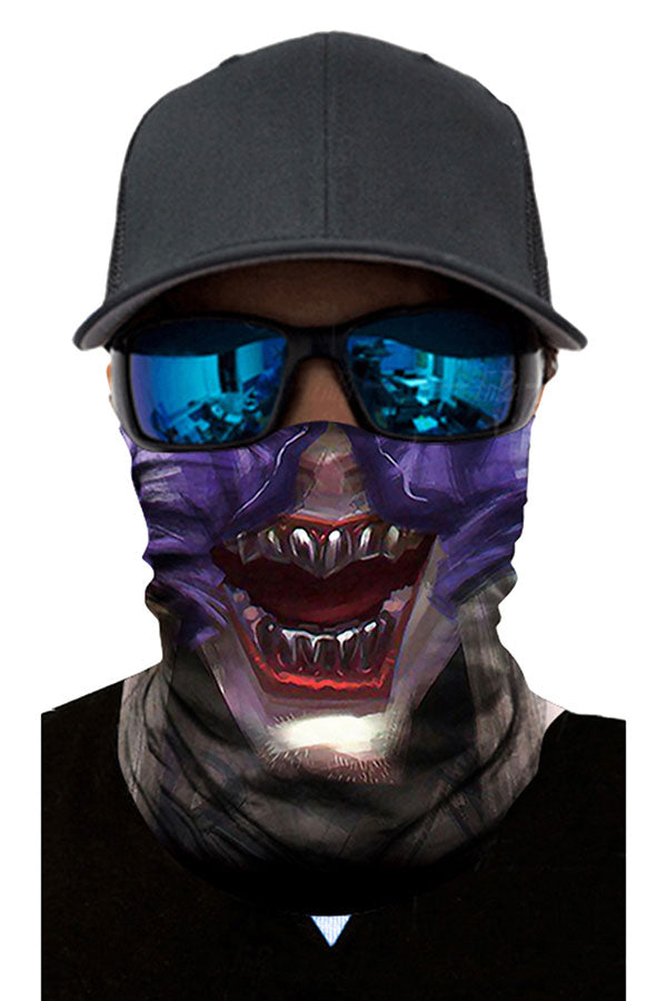 Creepy Print Dust Protection Fishing Neck Gaiter