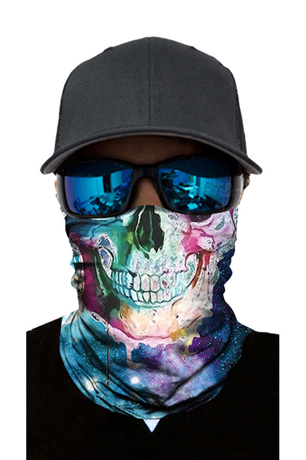 Unisex Galaxy Skull Bandana Windproof Riding Neck Gaiter