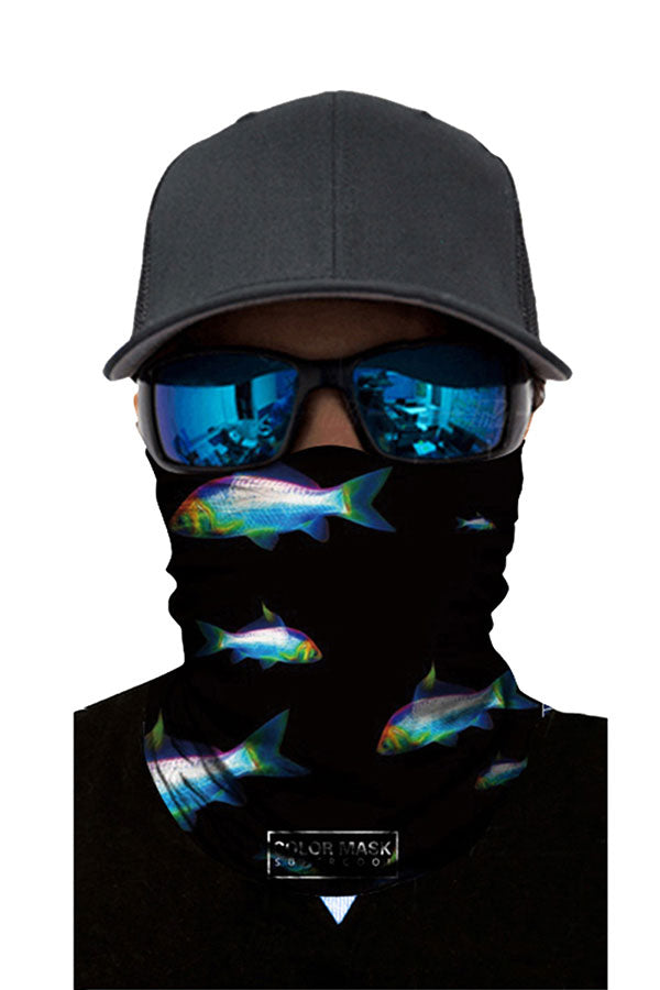 Seamless Unisex Fish Print Neck Gaiter Headwear