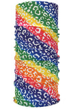 Unisex Tube Scarf Rainbow Print Neck Gaiter For Dust Protection