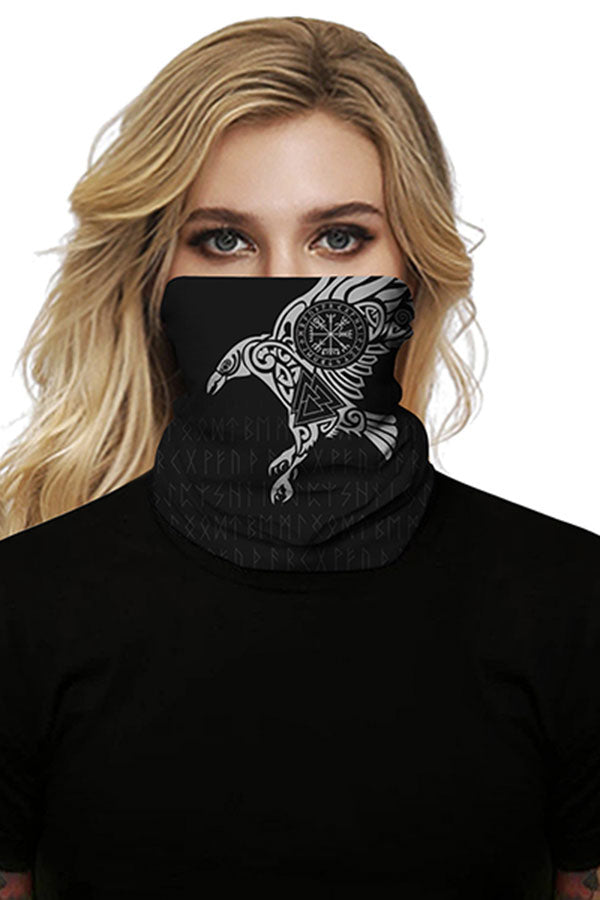 Unisex Eagle Print Windproof Neck Gaiter For Dust Protection