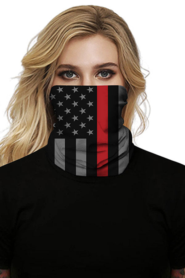 Multifunctional Flag Print Cycling Neck Gaiter