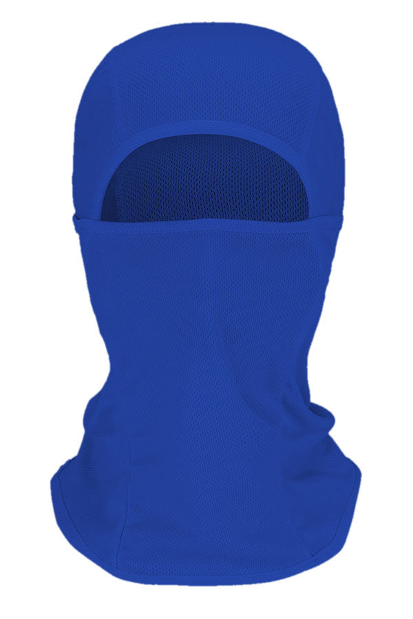 Solid Unisex Cycling Balaclava Motorcycle Neck Gaiter Sapphire Blue