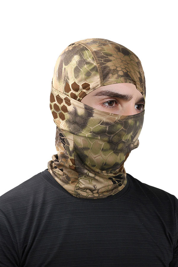 Outdoor Sports Snakeskin Print Headwear Motorcycle Ski Balaclava