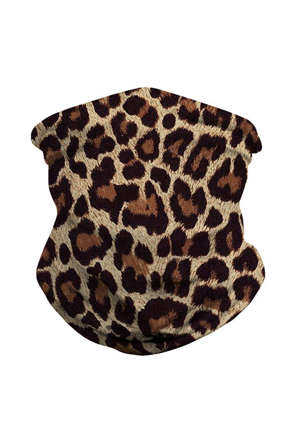 Outdoor Multifunctional Leopard Print Neck Gaiter Bandana
