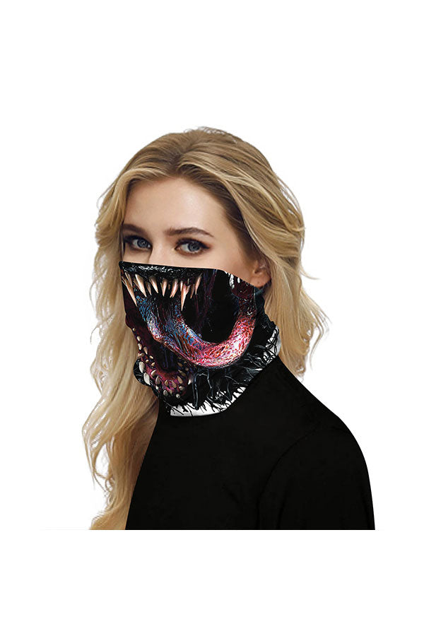 Outdoor Sports Venom Print Neck Gaiter For Dust Protection